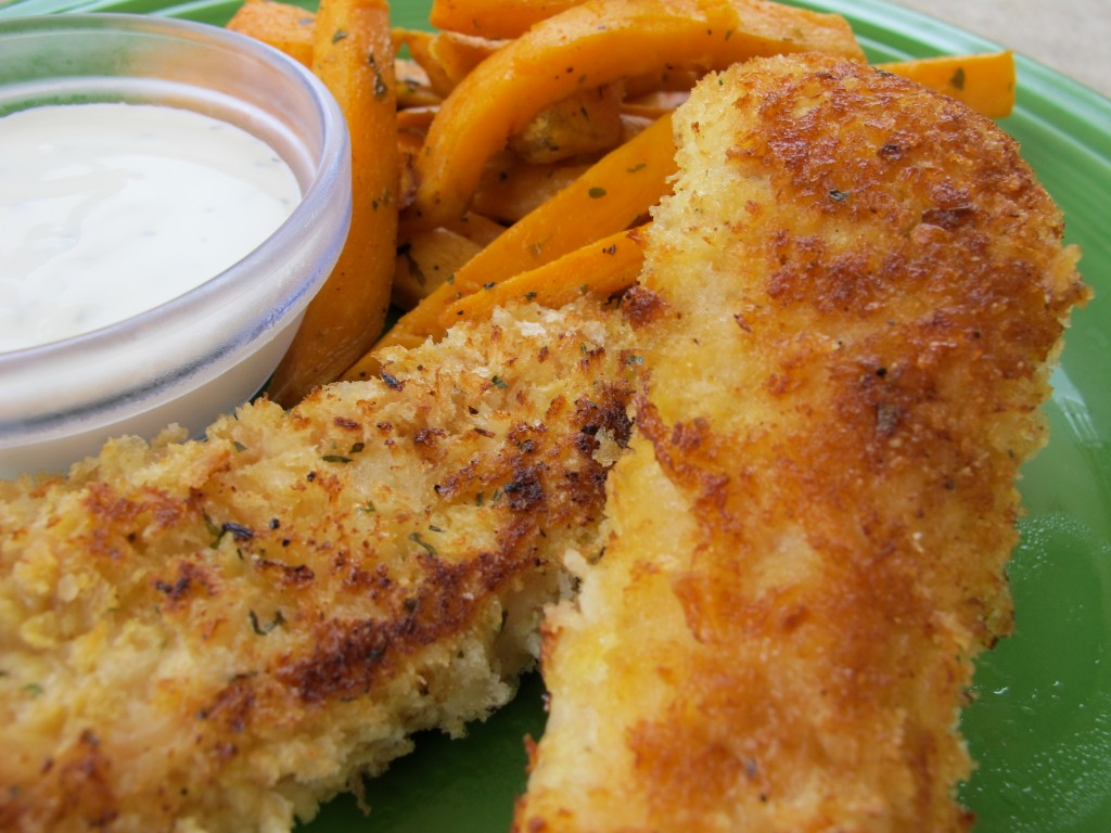 Easy And Healthy Baked Chicken Tenders With Sweet Potato