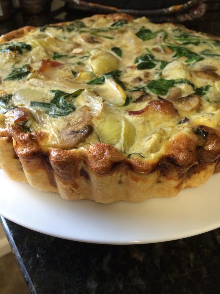 Spinach, Bacon, Mushroom, and Artichoke Pie / Quiche | Zestybeandog's ...